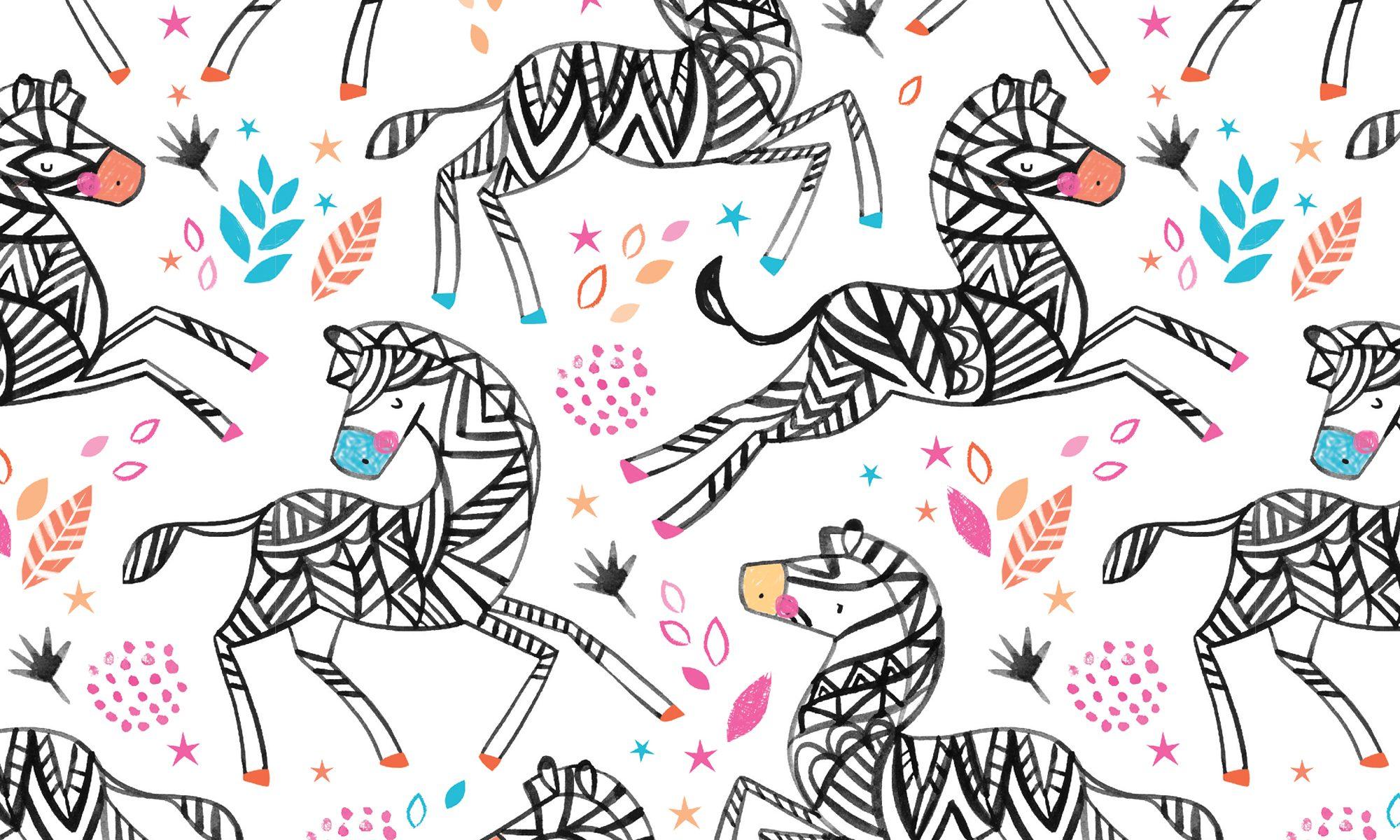 Zebra Illustration. KWI